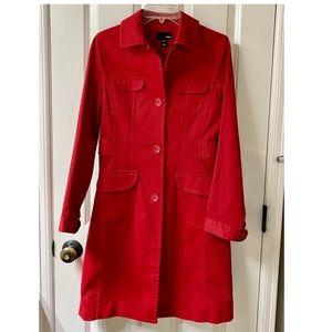 NWOT H&M Red Trench Coat- Size 6